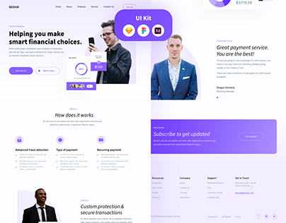 Payments Website UI Kit