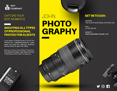 #Brochure for photography