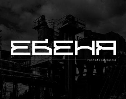 ЕБЕНЯ шрифт/EBENYA font/Cyrillic/Latin