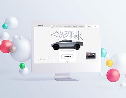 Tesla Cybertruck Website Redesign(Interaction Design)