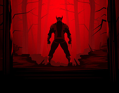 Wolverine Silhouette Poster