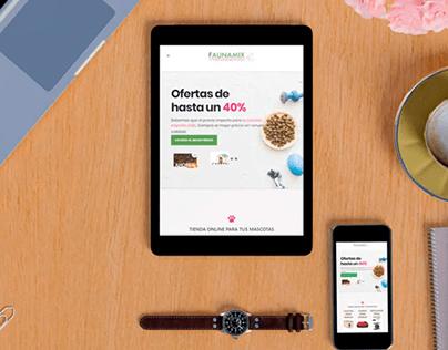 Desarrollo de tienda online Faunamix