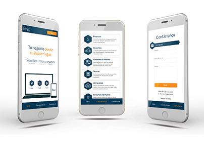 Panal - Landing page web design