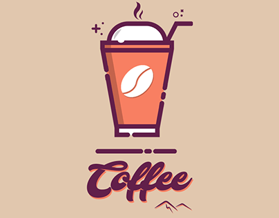 Coffee Cup MBE Style Illustration