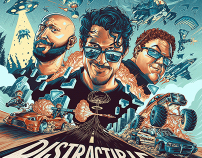 DISTRACTIBLE Podcast Cover Artwork