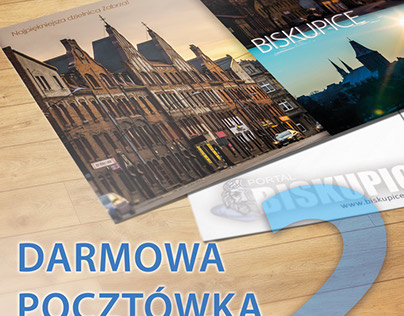 """Plakat """"Darmowa pocztówka"""""""