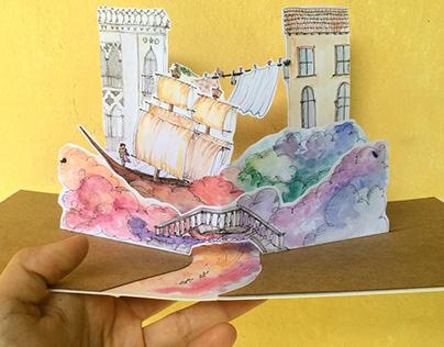 Pop-Up Card | Watercolor | Celebrations