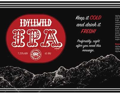IDYLLWILD IPA BEER CAN DESIGN (2020)