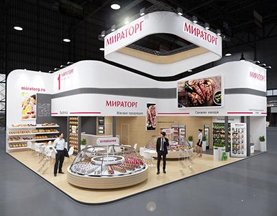 """Выставочный стенд """"Мираторг"""" на выставке Продэкспо 2021"""