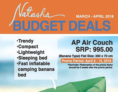 SHOECAT INC/NATASHA BUDGET DEALS FA & LAYOUT DESIGN