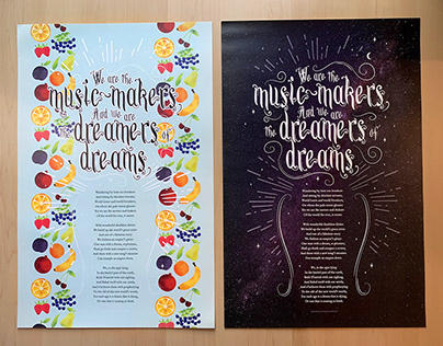 We are the music makers poster