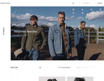 FREE Web-Design - Landing page. Barbershop Style