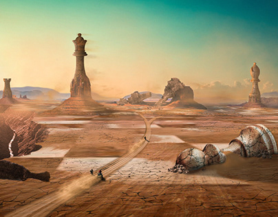 Chess With Giants: Photoshop Matte Painting