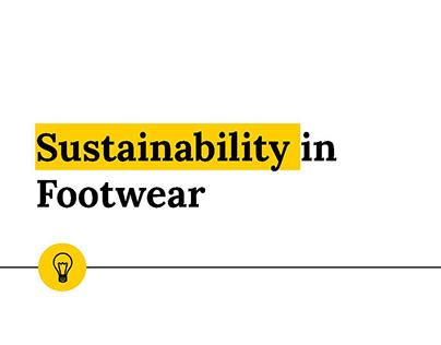 SUSTAINABILITY IN FOOTWEAR