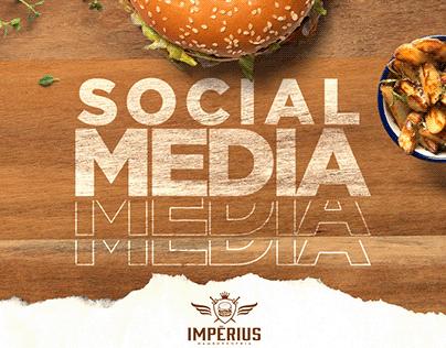 Impérius Hamburgueria Social Media