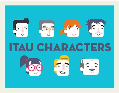 Itau character design.