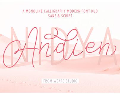 FREE // Andien Nidya - Script & Sans