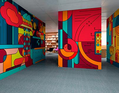 Ilustración vectorial para muros interiores
