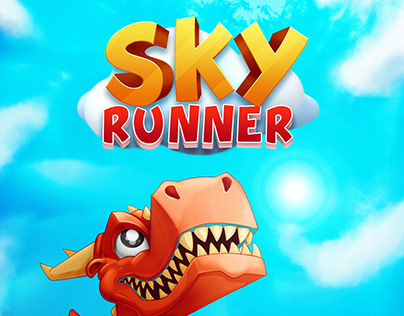 Sky Runner (casual mobile game concept art)