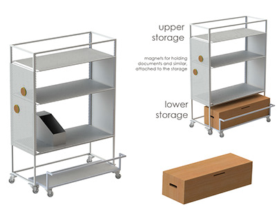 Adjustable storage shelf EASY