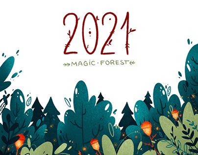 Magic Forest. Calendar 2021