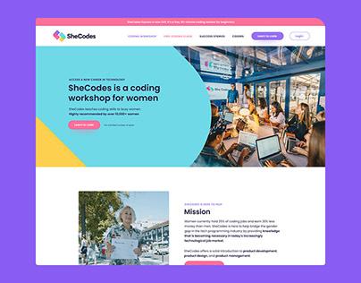 SheCodes Website Sprint - Figma Landing Page Download