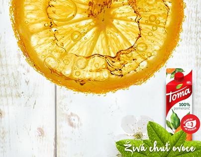 Toma juice / concept idea for retail poster