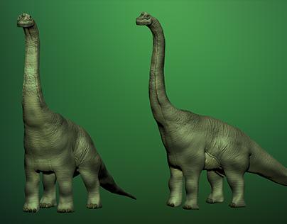 #3DSanta Brachiosaurus