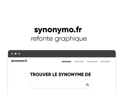 Refonte graphique Synonymo.fr - UX UI Design