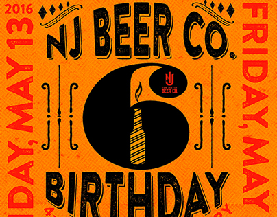 NJ BEER CO. 6TH BIRTHDAY PROMOTION POSTER
