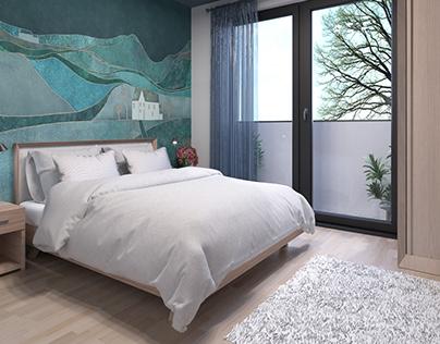 Wizualizacja 3D sypialni