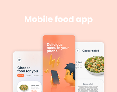 UI Design. Mobile food app