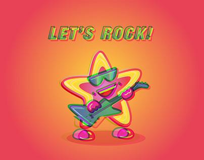 Let's rock — Star sticker pack