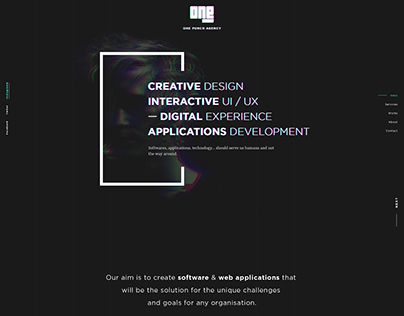 Design a landing page for a web agency.