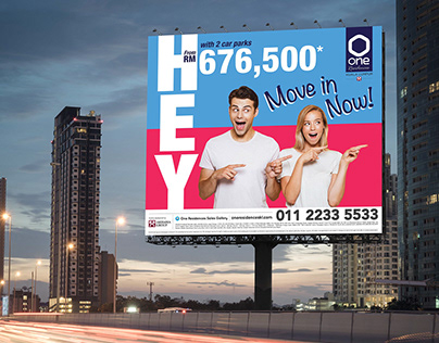 One Residence billboard design