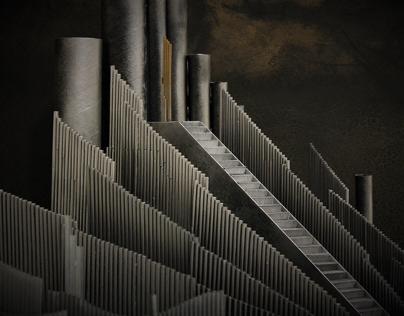 """Opera """"Das Rheingold"""" Richard Wagner. Set desigt. 2018"""