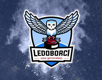 Maskot logo pro curlingový tým