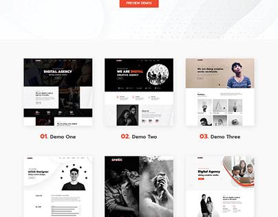 Cretic - Creative Agency WordPress Theme