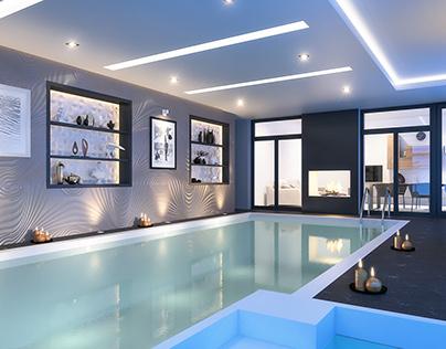 Private indoor pool Design, Denmark.