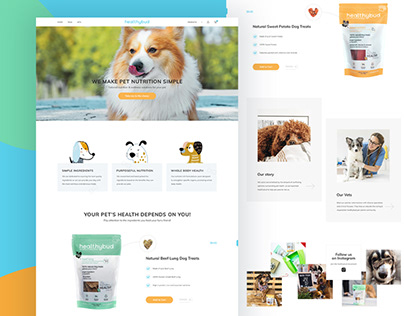 Homepage redesign concept for dog food manufacturers
