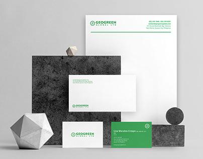 Clean Modern Green Logo and Brand Identity Design