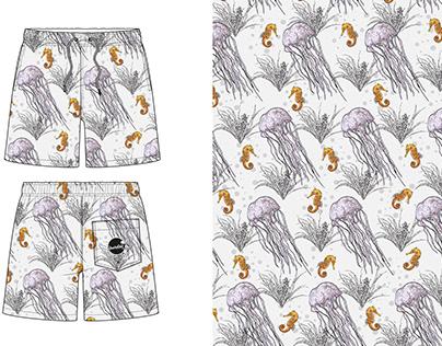 Ocean Themed Swimwear Patterns