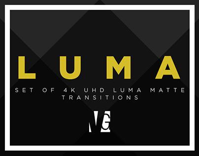LUMA - 4K UHD Luma Matte Transitions