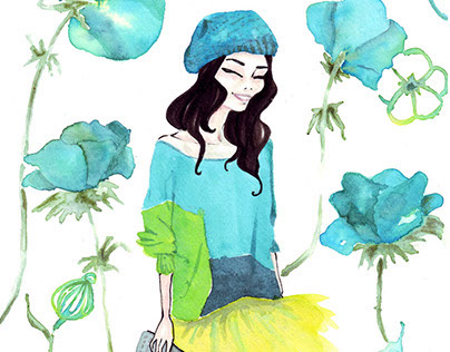 A/W collections - Fashion illustration
