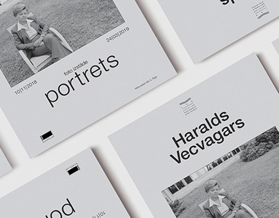 Haralds Vecvagars: portrets | Photo exhibit poster