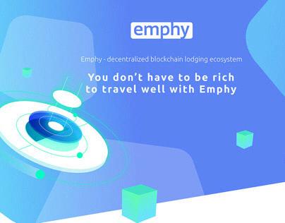 Emphy.io   UI/UX Design + illustration   ICO traveling