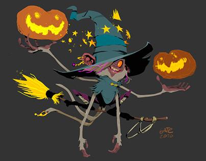 Halloween Monkyfull Witchcraft
