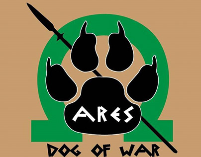 Ares the War Dog, an airsofter's dog