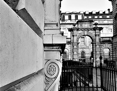 Neoclassical details at Somerset House, London