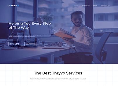 Finance Service Website Design